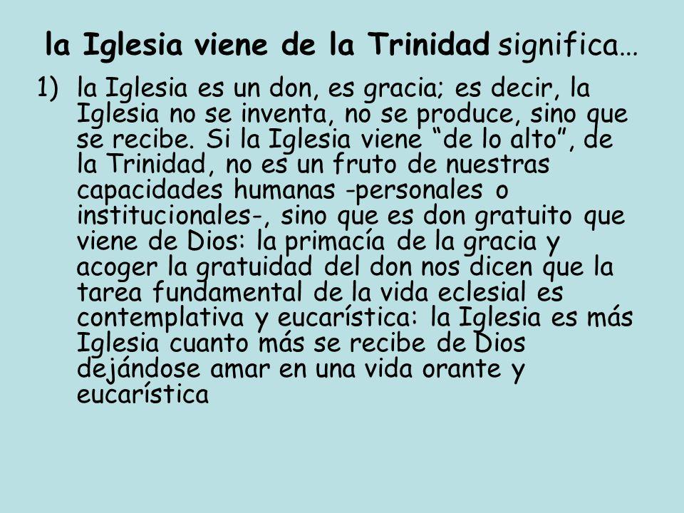 la Iglesia viene de la Trinidad significa…