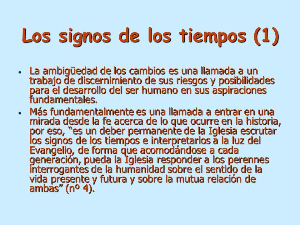 Los signos de los tiempos (1)