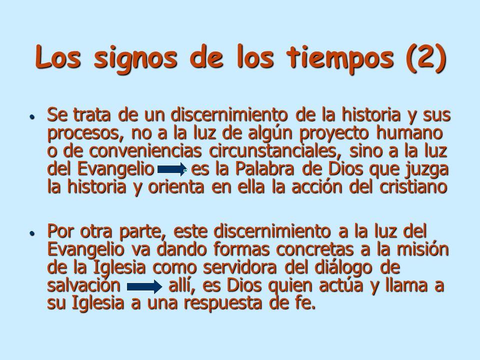 Los signos de los tiempos (2)