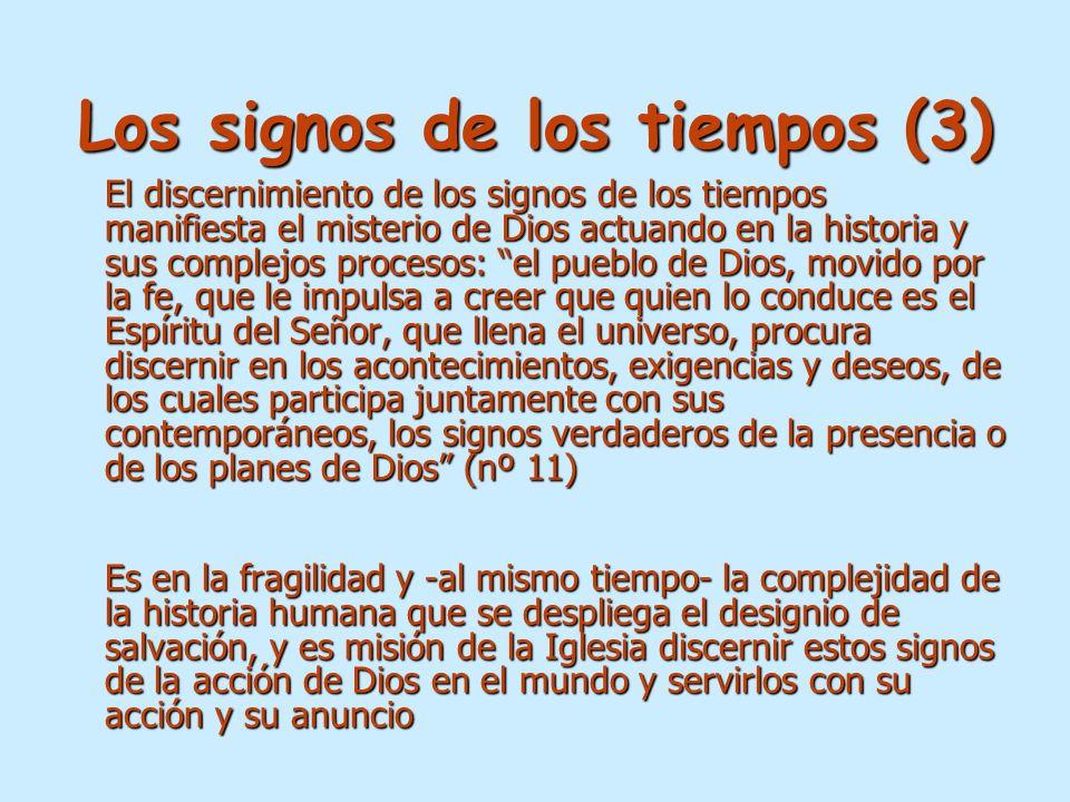 Los signos de los tiempos (3)