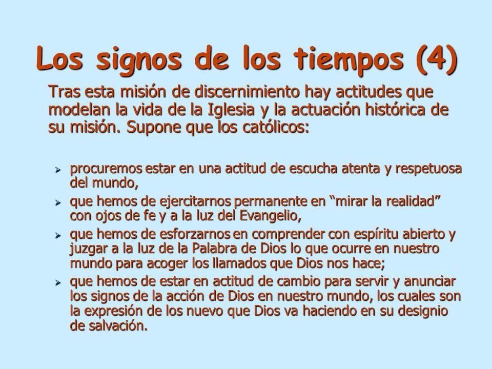 Los signos de los tiempos (4)