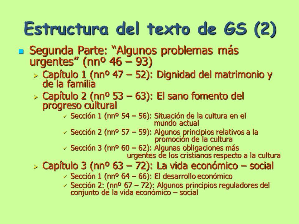 Estructura del texto de GS (2)
