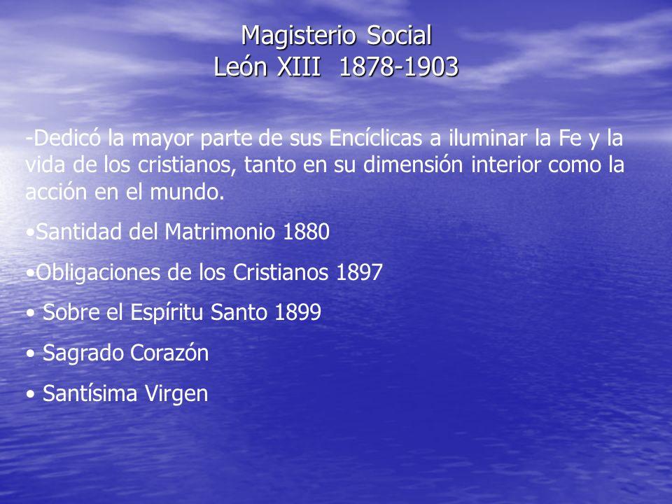Magisterio Social León XIII 1878-1903