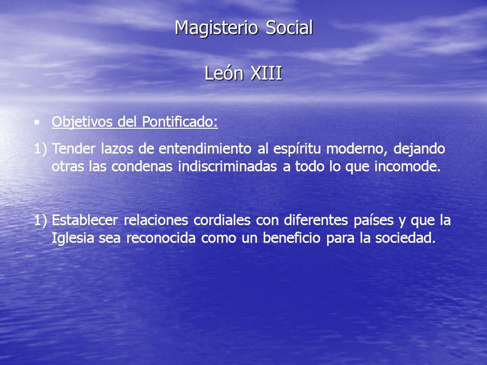 Magisterio Social León XIII