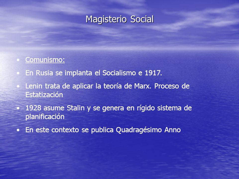 Magisterio Social Comunismo: