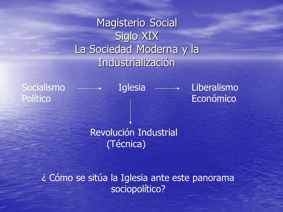 Magisterio Social Siglo XIX La Sociedad Moderna y la Industrialización