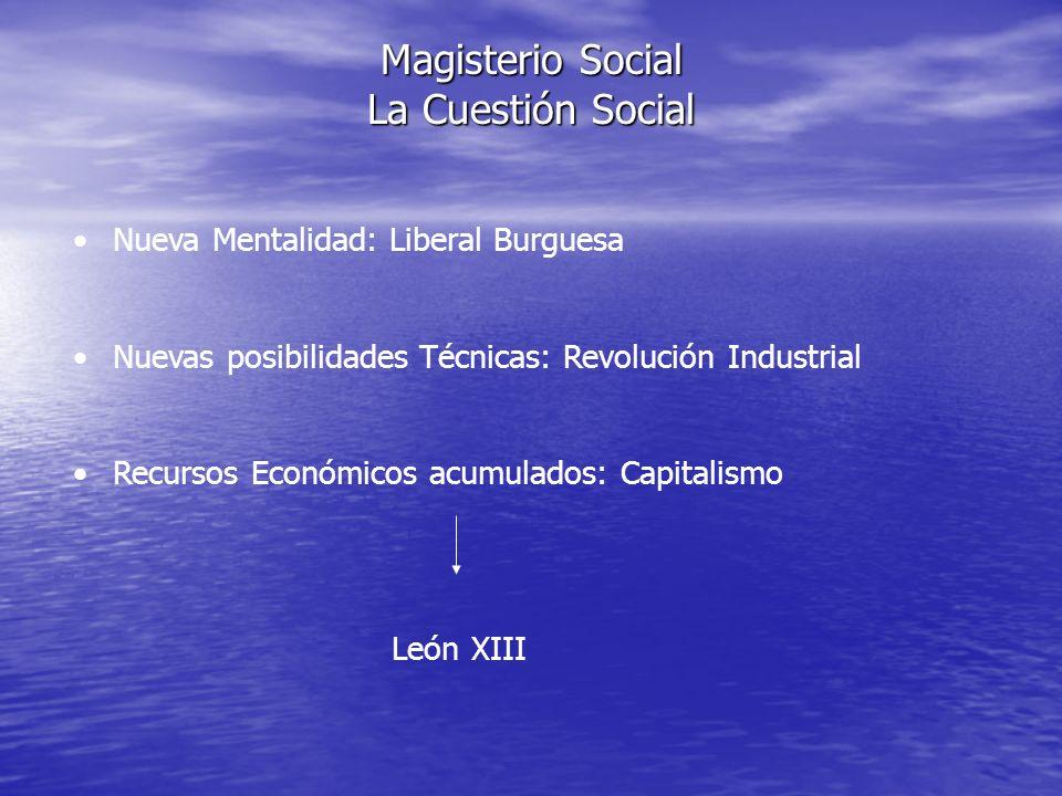 Magisterio Social La Cuestión Social