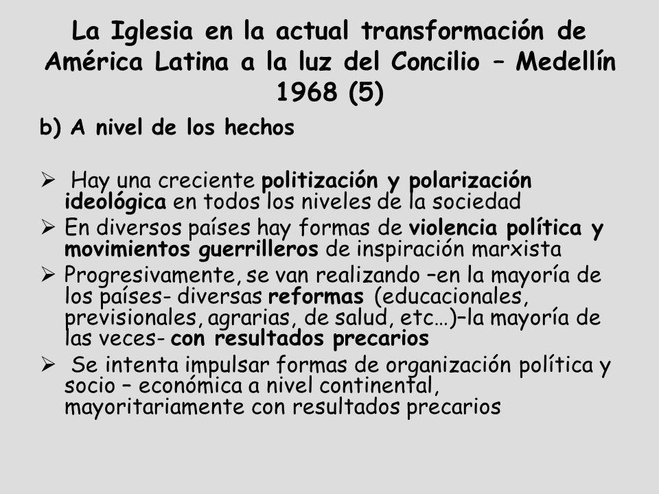 La Iglesia en la actual transformación de América Latina a la luz del Concilio – Medellín 1968 (5)