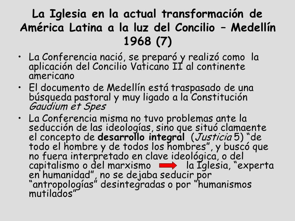 La Iglesia en la actual transformación de América Latina a la luz del Concilio – Medellín 1968 (7)