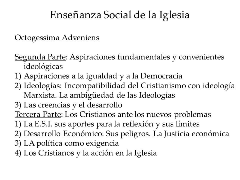 Enseñanza Social de la Iglesia