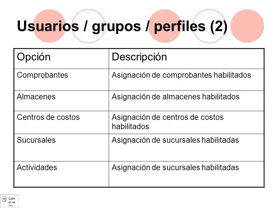 Usuarios / grupos / perfiles (2)