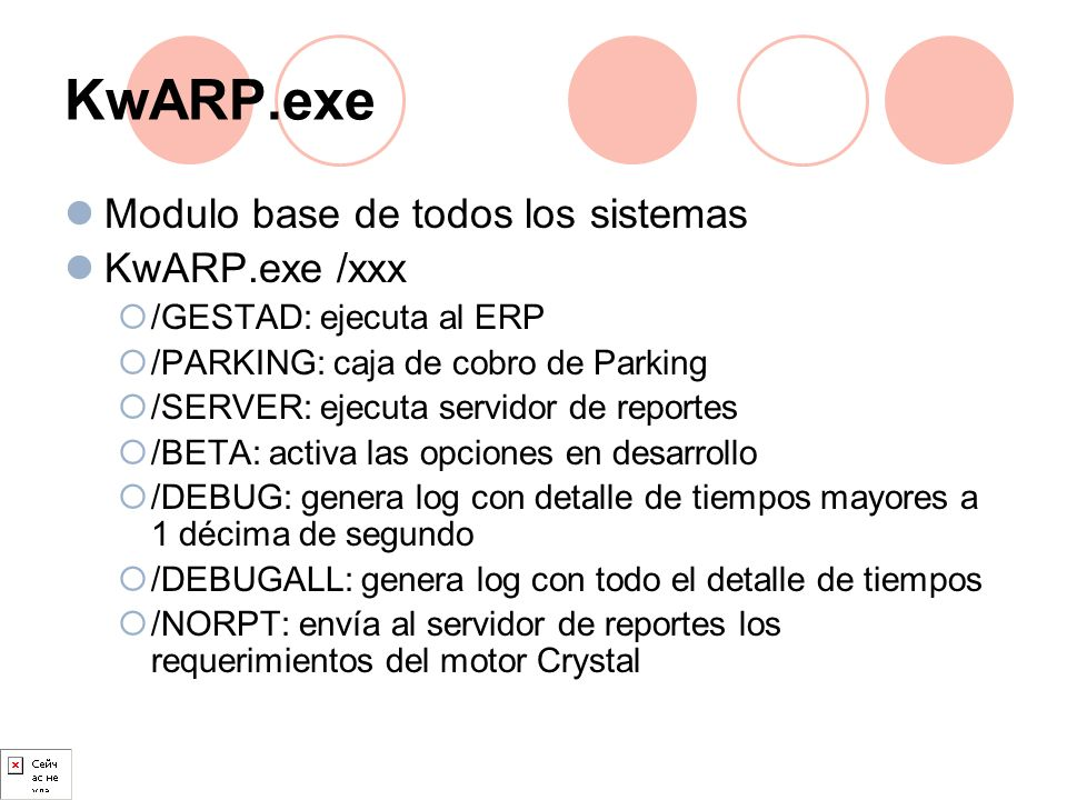 KwARP.exe Modulo base de todos los sistemas KwARP.exe /xxx