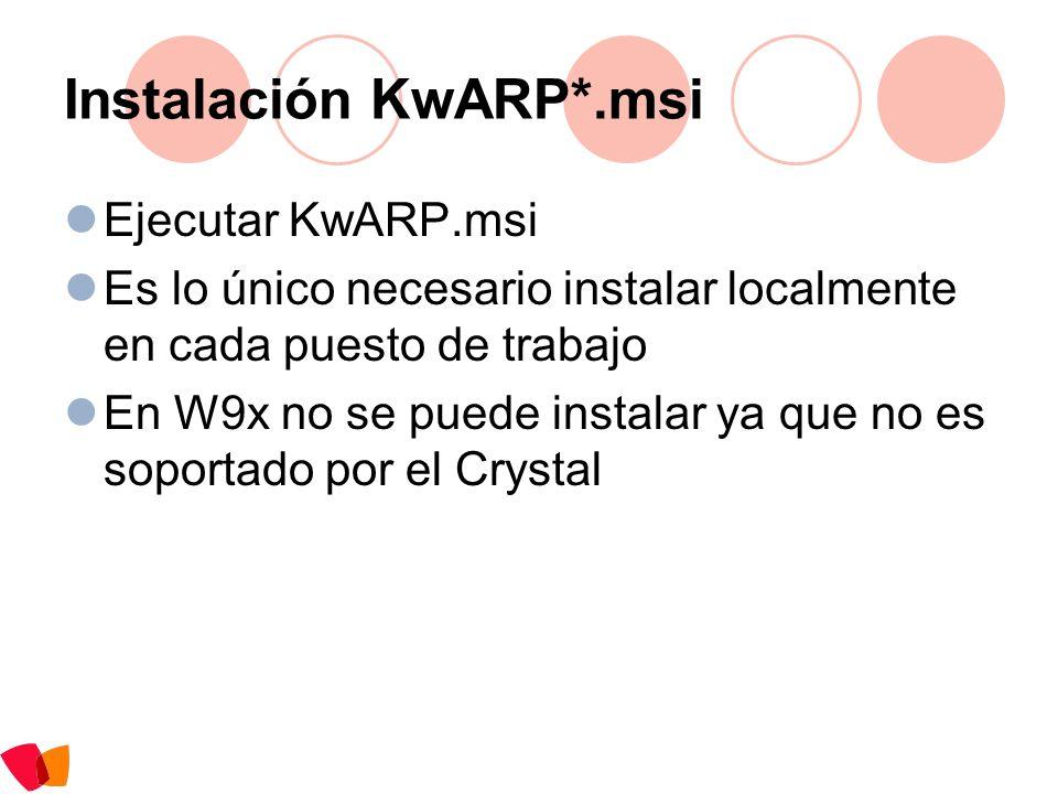 Instalación KwARP*.msi