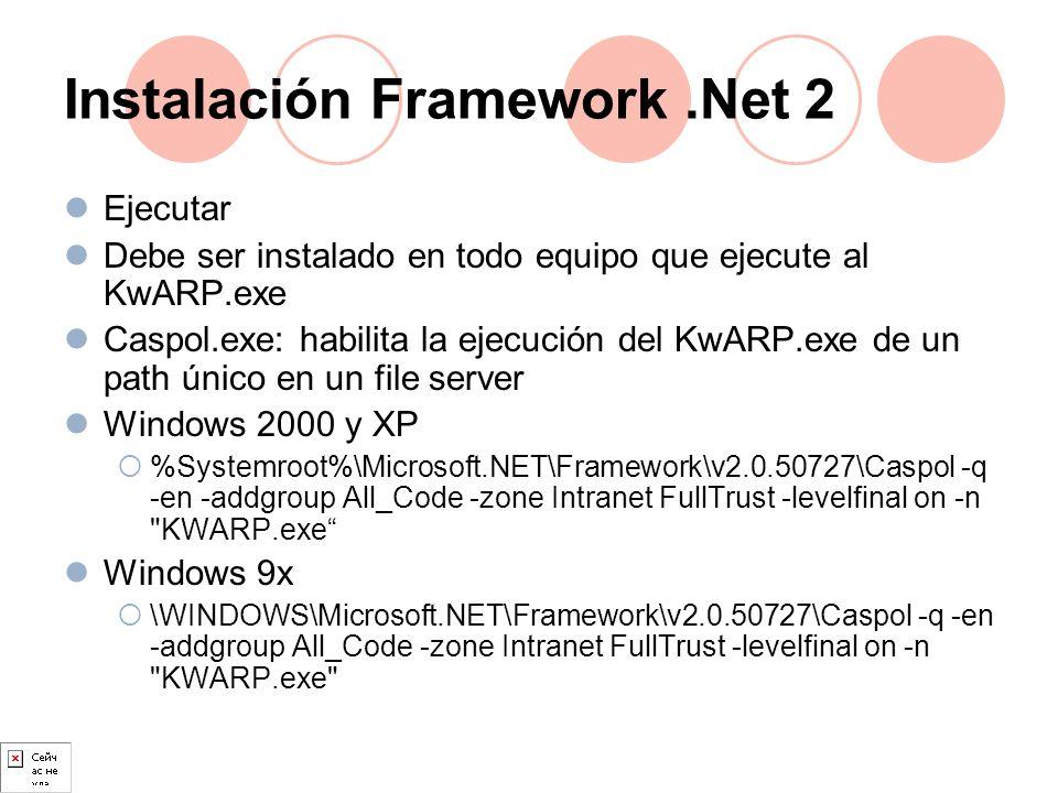 Instalación Framework .Net 2