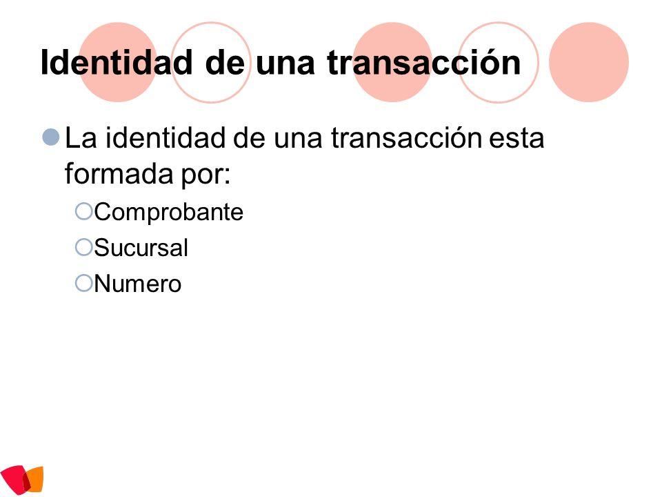 Identidad de una transacción