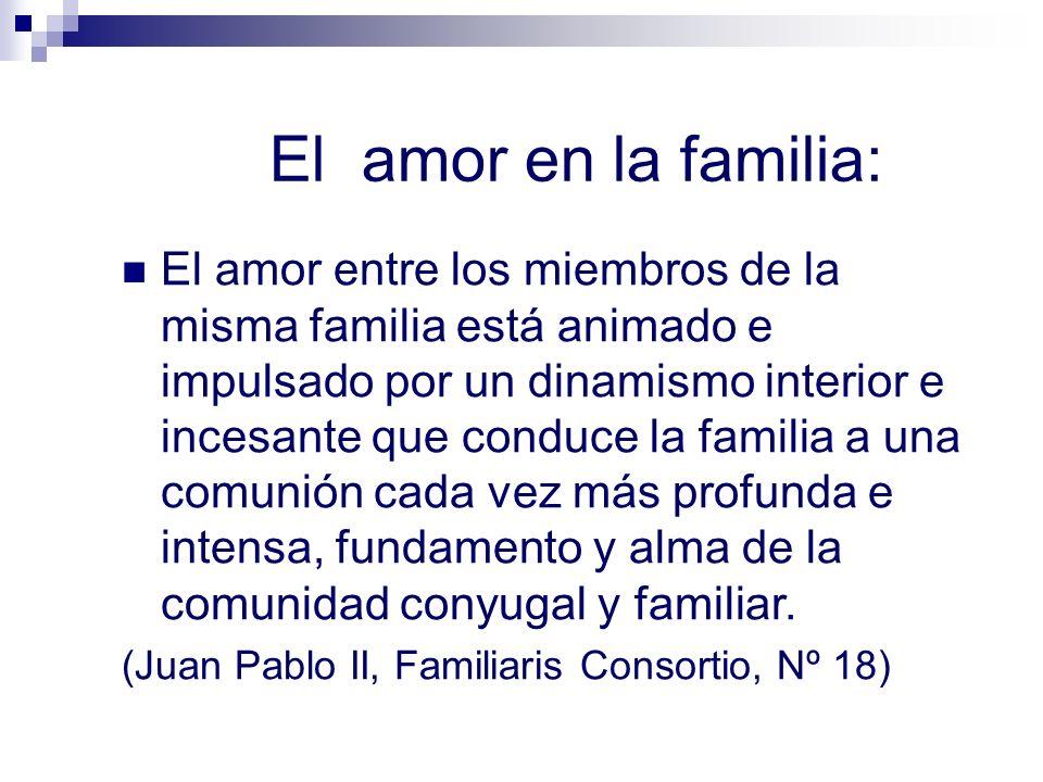 El amor en la familia: