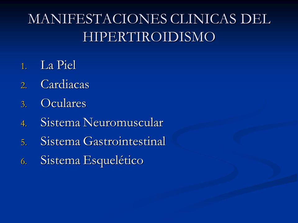 MANIFESTACIONES CLINICAS DEL HIPERTIROIDISMO