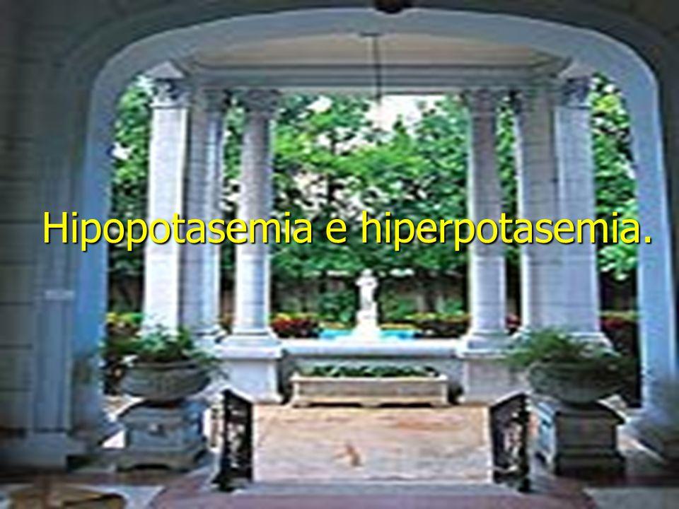 Hipopotasemia e hiperpotasemia.