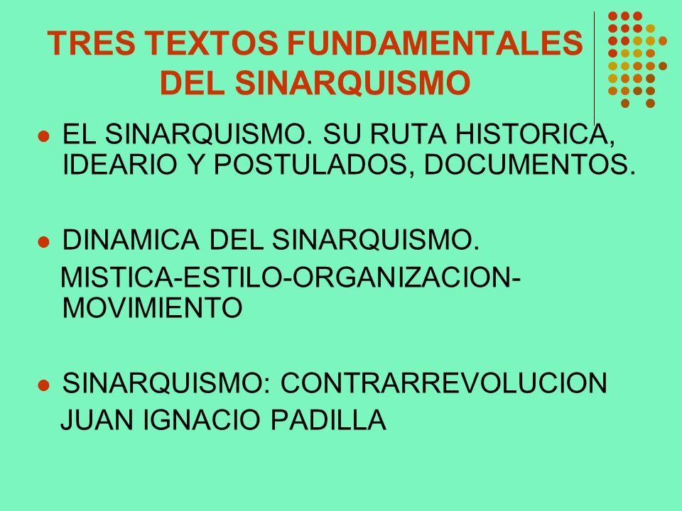 TRES TEXTOS FUNDAMENTALES DEL SINARQUISMO
