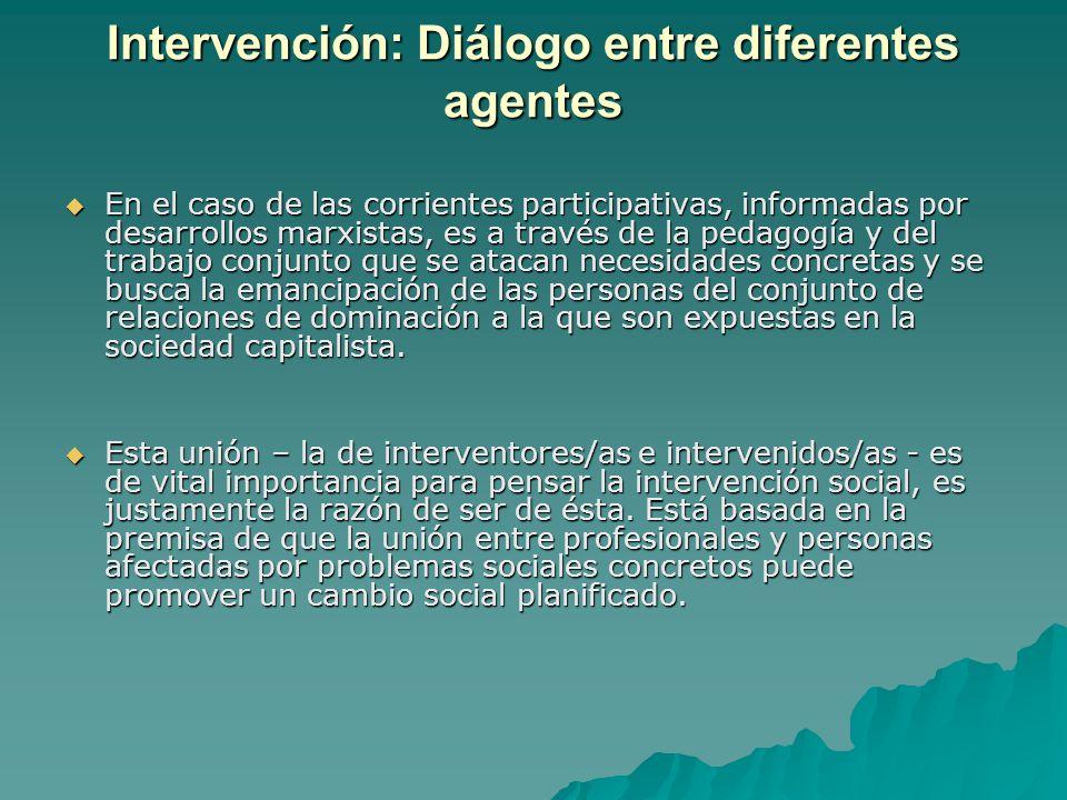 Intervención: Diálogo entre diferentes agentes