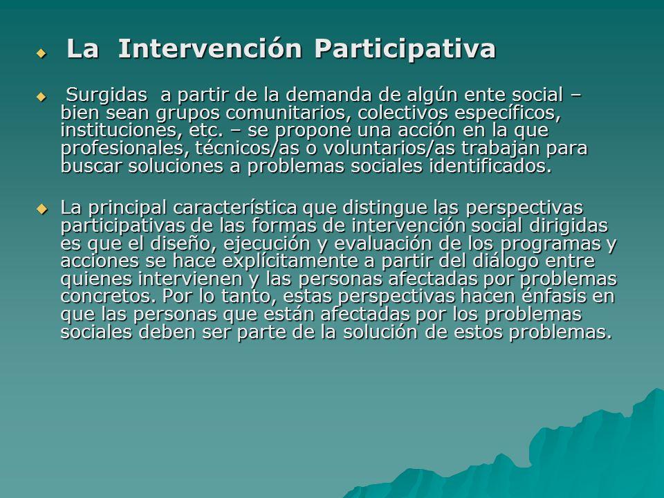 La Intervención Participativa
