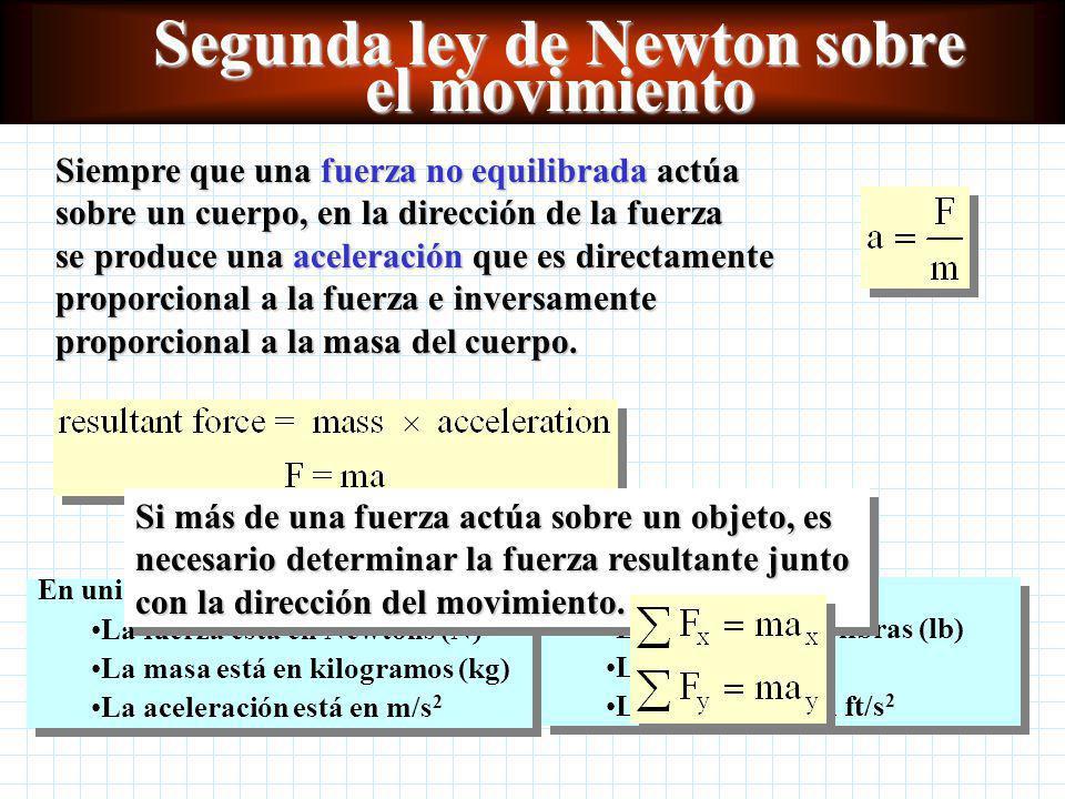 Segunda ley de Newton sobre el movimiento