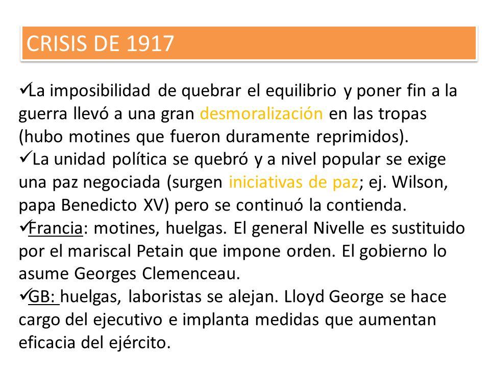 CRISIS DE 1917