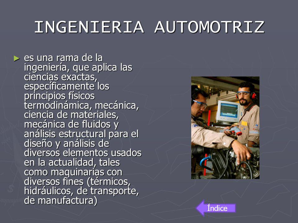 INGENIERIA AUTOMOTRIZ