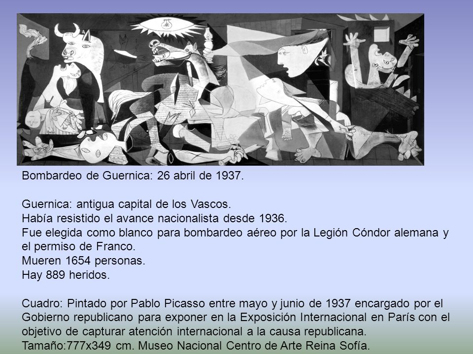 Bombardeo de Guernica: 26 abril de 1937.