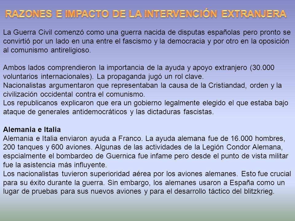 RAZONES E IMPACTO DE LA INTERVENCIÓN EXTRANJERA