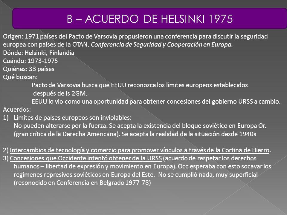 B – ACUERDO DE HELSINKI 1975