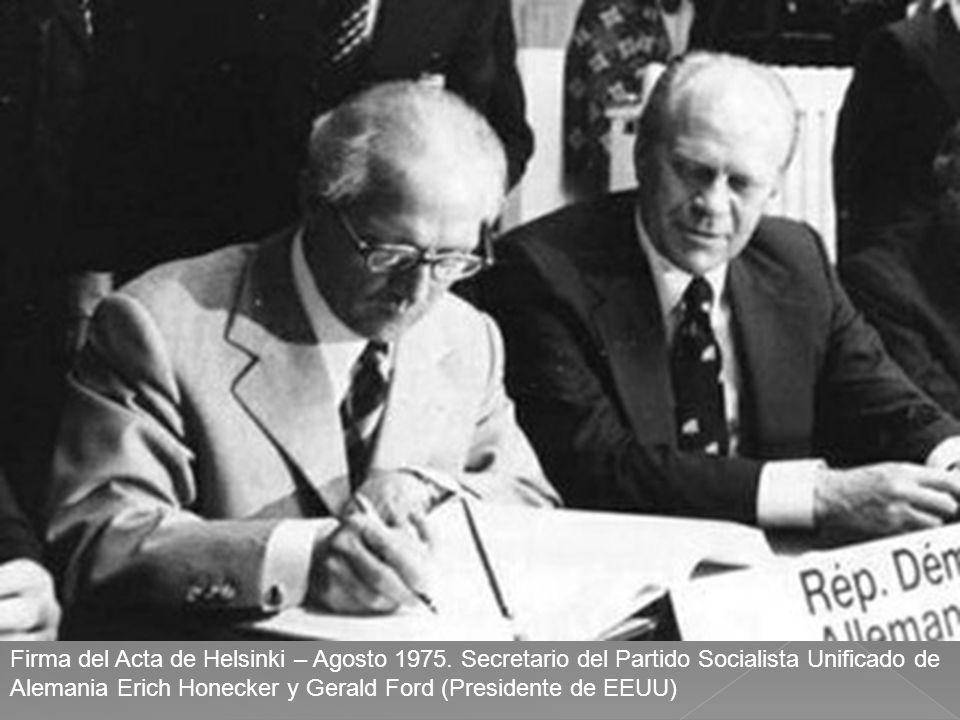 Firma del Acta de Helsinki – Agosto 1975