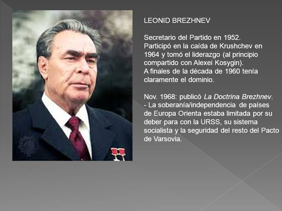 LEONID BREZHNEV Secretario del Partido en 1952.