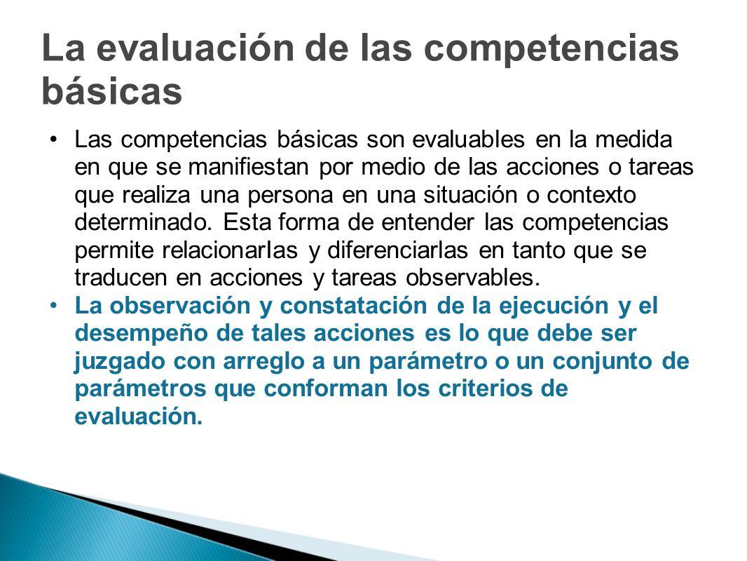 La evaluación de las competencias básicas