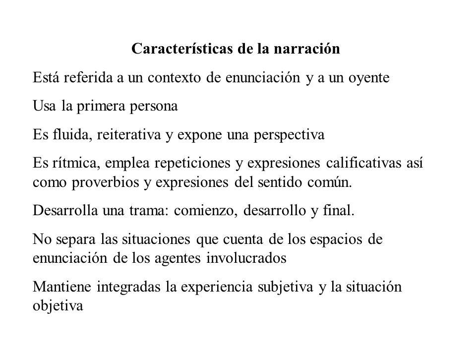 Características de la narración