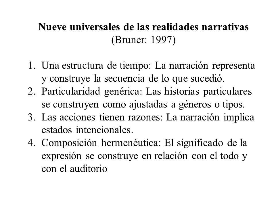 Nueve universales de las realidades narrativas
