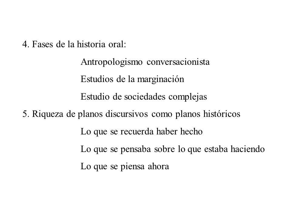 4. Fases de la historia oral: