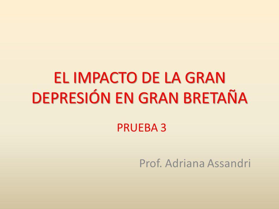 EL IMPACTO DE LA GRAN DEPRESIÓN EN GRAN BRETAÑA