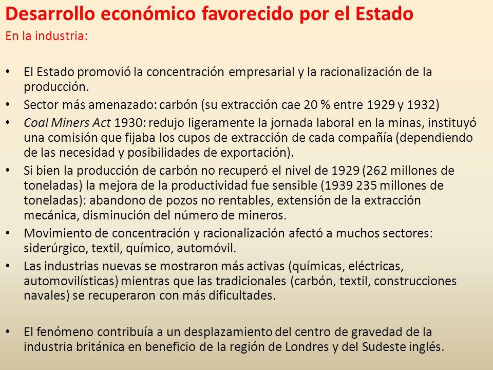 Desarrollo económico favorecido por el Estado