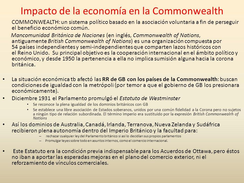 Impacto de la economía en la Commonwealth