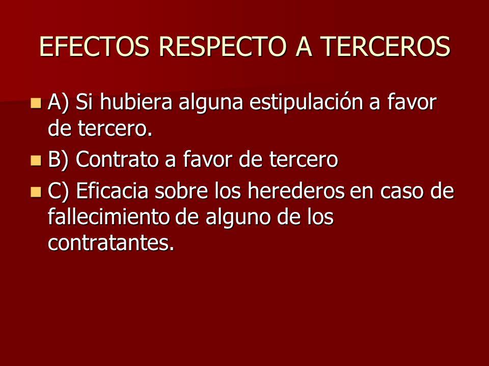 EFECTOS RESPECTO A TERCEROS
