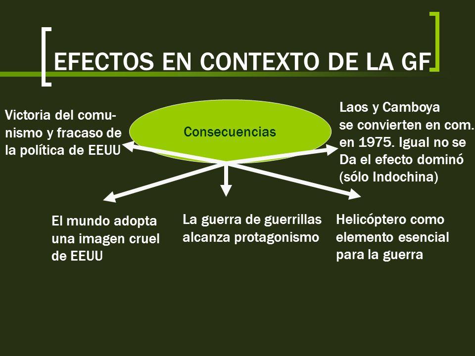 EFECTOS EN CONTEXTO DE LA GF