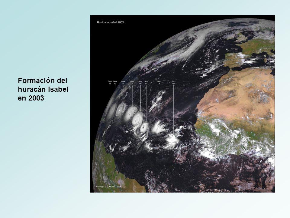 Formación del huracán Isabel en 2003