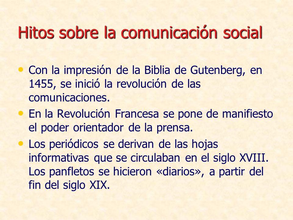 Hitos sobre la comunicación social