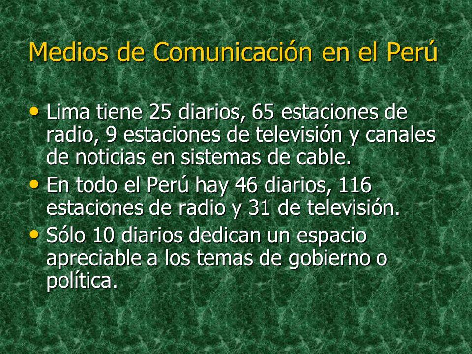Medios de Comunicación en el Perú