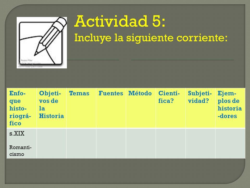 Actividad 5: Incluye la siguiente corriente:
