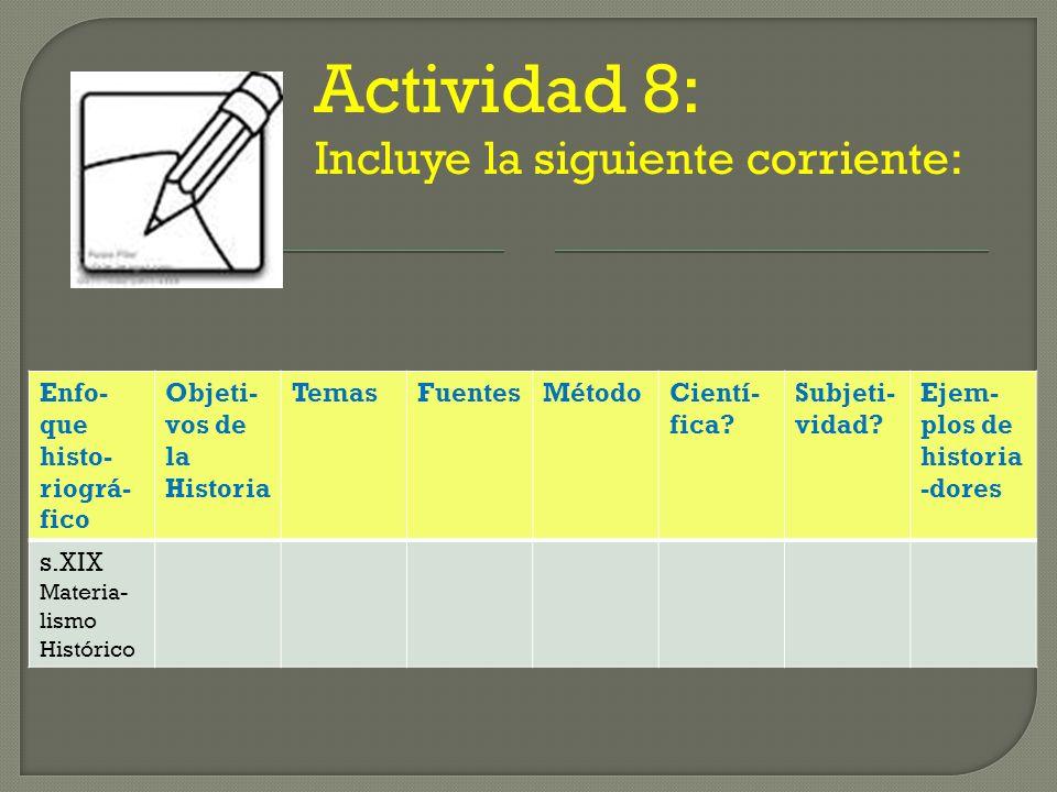 Actividad 8: Incluye la siguiente corriente: