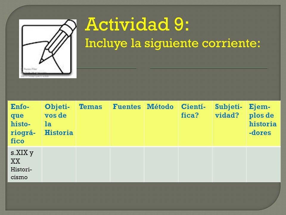 Actividad 9: Incluye la siguiente corriente:
