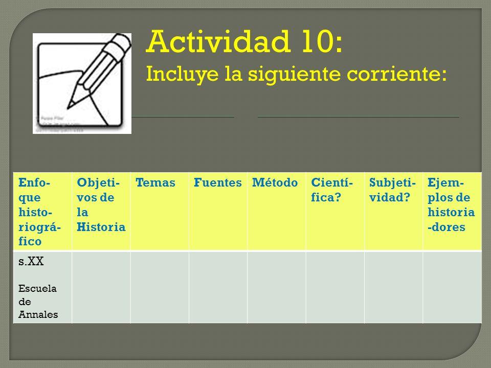 Actividad 10: Incluye la siguiente corriente: