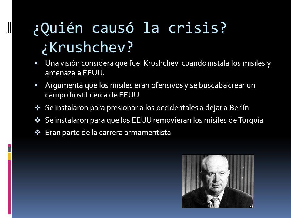 ¿Quién causó la crisis ¿Krushchev